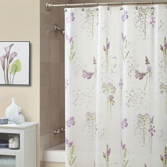 Abundance Lilac Shower Curtain   Anna's Linens   Pinterest