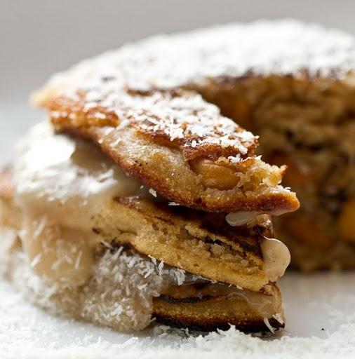 Coconut-maple cashew chai pancakes | Eat Breakfast | Pinterest