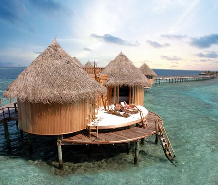 Pin by chelsea baker on dream vacations pinterest Overwater bungalows fiji