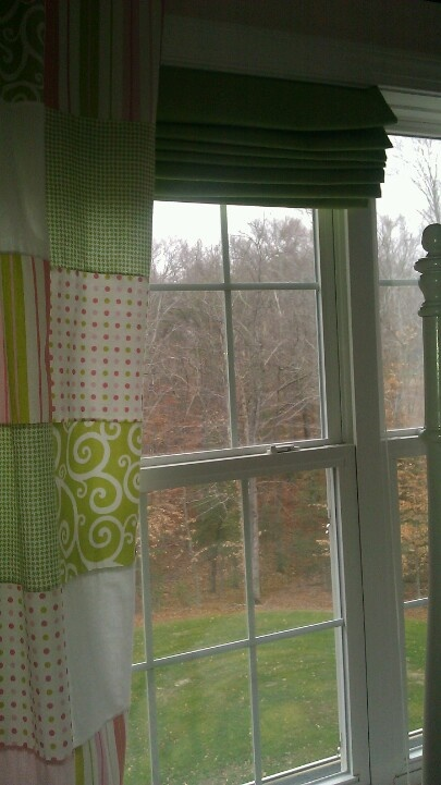 Roman shadesfrom mini blinds completed pinterest for Curtains that look like roman shades