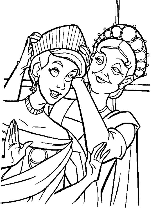 anastasia coloring book pages - photo#26