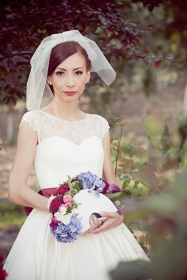 Ceremonial wedding crowns and hints of 50 s style for an orthodox rom - Traditional style wedding romania ...