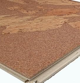 Snap Together Floating Cork Floor Tiles The Planks Can Float Above An