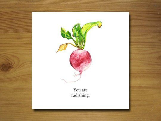 Love this card sent to me by a darling friend.   Lettuce Grow Old Together: 10 Great Valentine Day's Cards for Food Lovers
