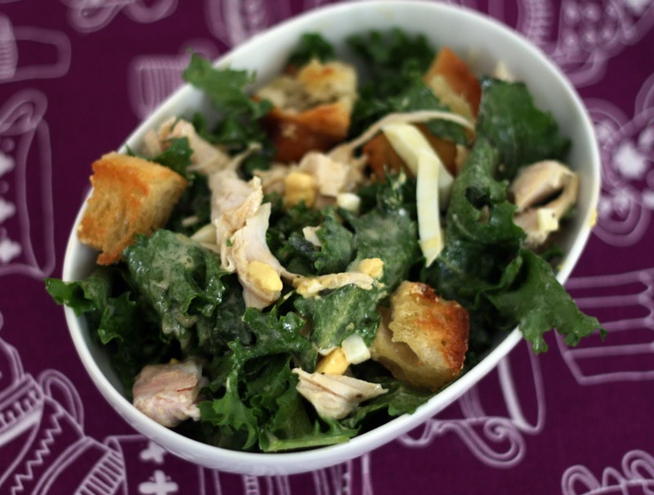 coconut amp lime escarole salad with turkey amp garlic rubbed croutons