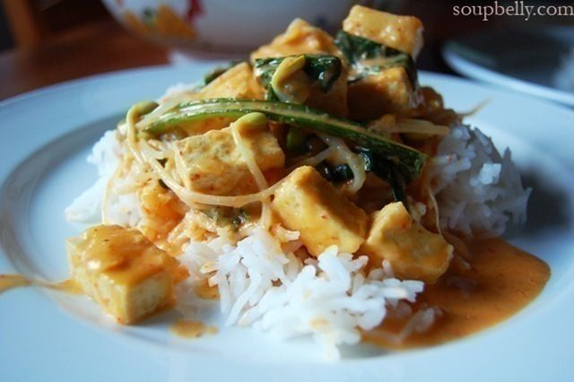 Thai Red Curry with Tofu and Vegetables | Vegetables | Pinterest