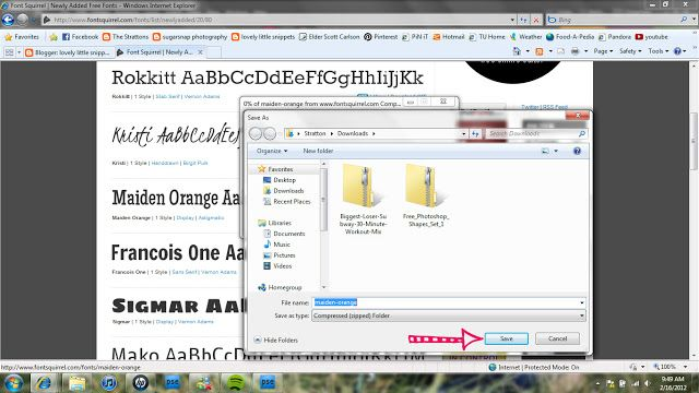 Lovely Little Snippets: Installing Fonts