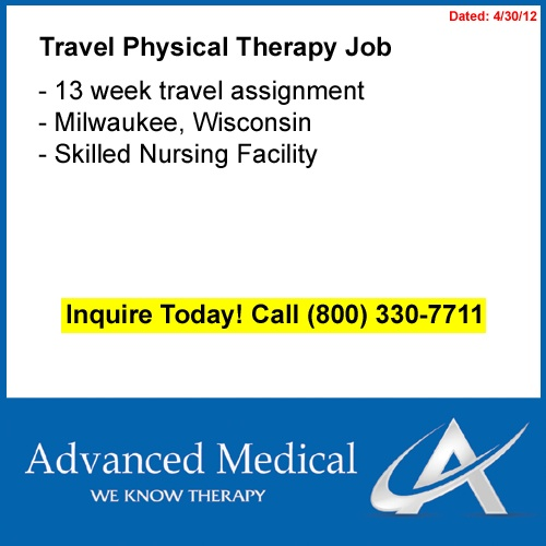 travel physical therapist milwaukee jobs