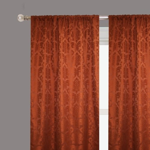 "Rodeo Home Alyssa Two Panel Drapery-54""x96"" in BRICK by RODEO HOME ..."