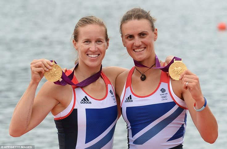 Helen Glover (left) and Heather Stanning - First Gold..! :)