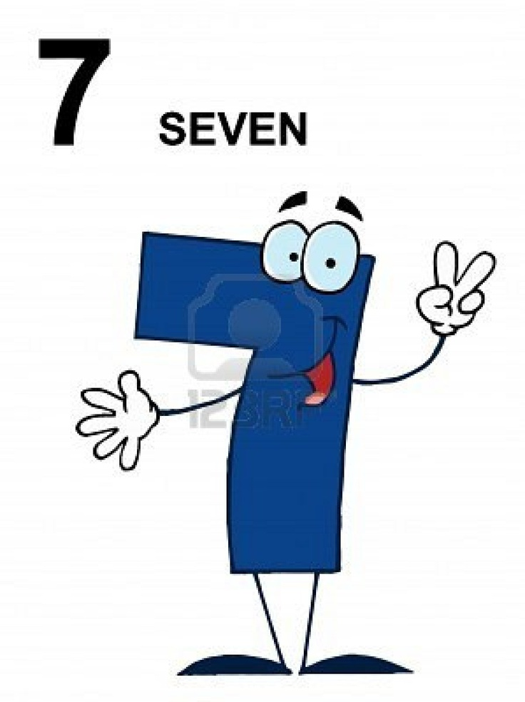 friendly blue number 7