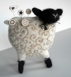 That's Woolly Something: woolly sheep pin cushion