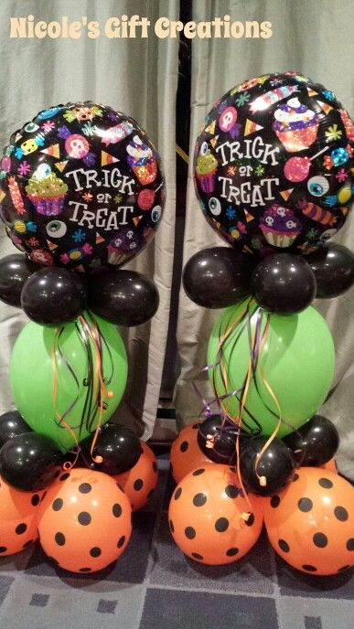 Halloween balloon decor balloons pinterest for Balloon decoration for halloween