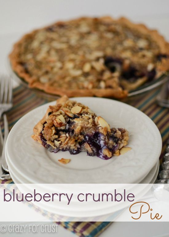 Blueberry Crumb Pie by crazyforcrust.com | Perfect for the 4th of July ...