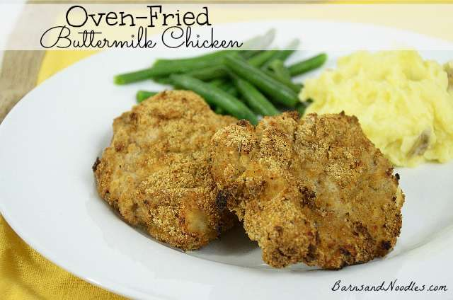 Oven Fried Buttermilk Chicken | Gettin My Cook On | Pinterest