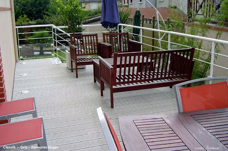 Terrasse bois composite Classik Gris clair Océwood®