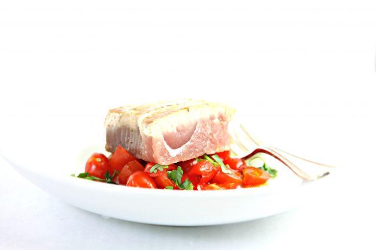 Spicy Grilled Tuna Steaks with Garden Salsa | Recipe