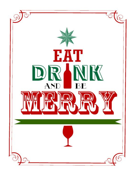 eat  drink  and be merry art print