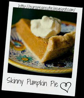 Skinny Pumpkin Pie ♥ | Healthier Options | Pinterest