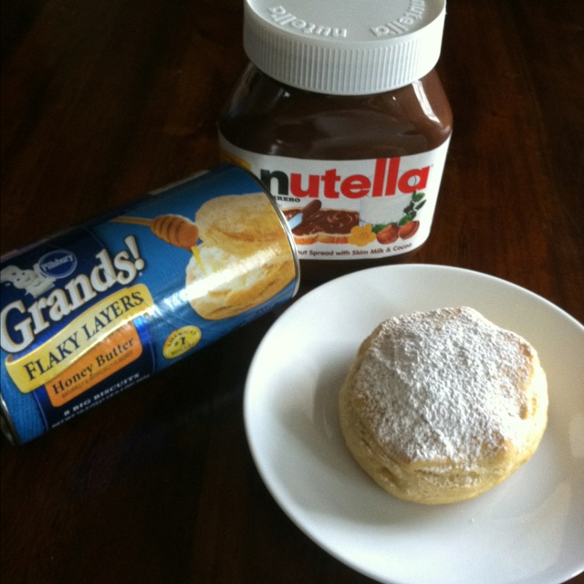 Nutella stuffed biscuits - Split biscuit apart half way. Drop a ...