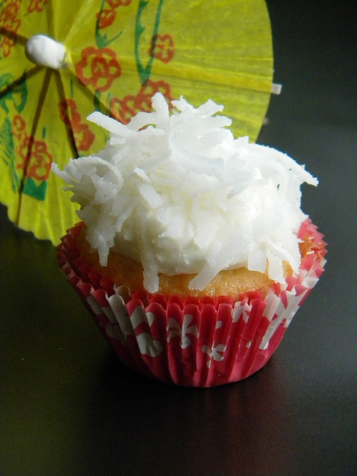 Pina Colada Cupcakes recipe from http://www.meettheshannons.net/2011 ...