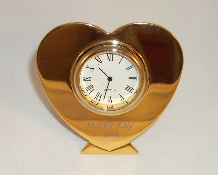 MARY KAY Beautiful Gold Clock for Desk or Table 2004 Consultant Prize, Great 10 year anniversay gift for Consultant or Director! Excellent Pre-Owned Condition! $34.97 obo