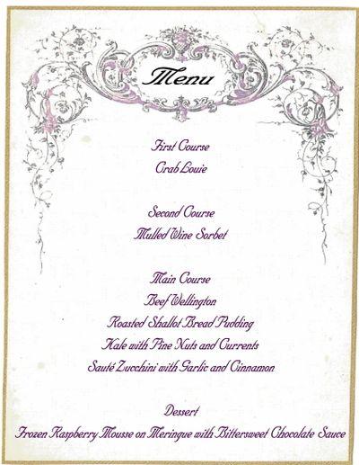 formal dinner menu template | trattorialeondoro