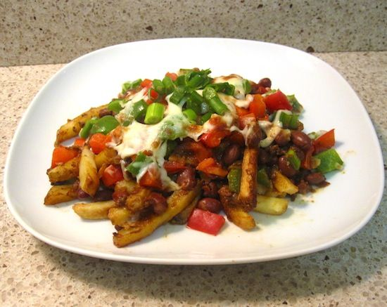 baked chili cheese fries :)