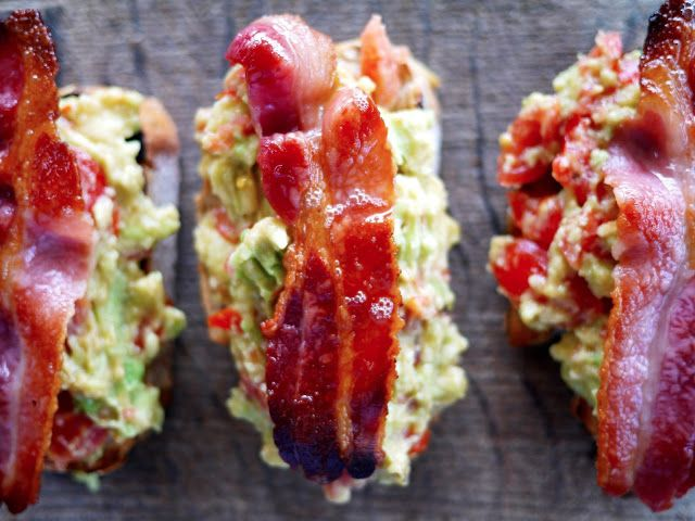 ... breakfast... or lunch...or dinner! Avocado Bacon Toasts - The Londoner