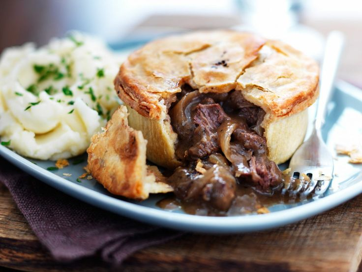Steak and ale pie. | Thank you very much!! Now I'm hungry!!! | Pinter ...
