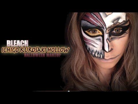 bleach hollow mask halloween makeup makeup nails hair