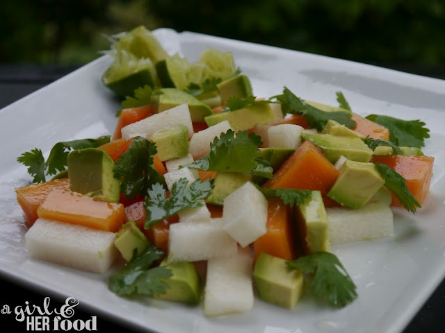 Avocado, Jicama & Papaya Salad | Soups and Salads | Pinterest