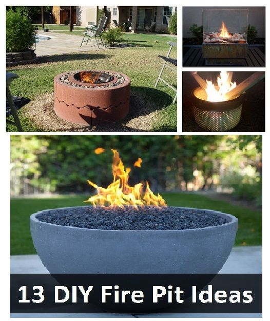 13 diy fire pit ideas diy pinterest