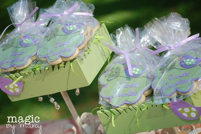 Baby Bird Purple And Green Baby Shower Baby Shower Party Ideas