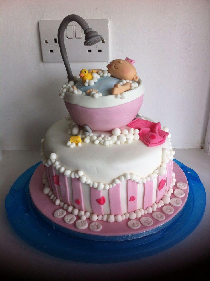baby bath tub shower cake baby shower pinterest. Black Bedroom Furniture Sets. Home Design Ideas
