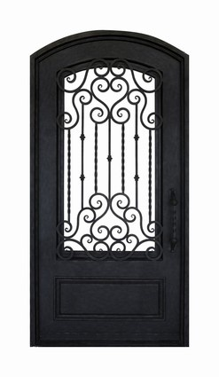 Another iron and glass pantry door home tips tricks for Porte exterieur fer forge tunisie