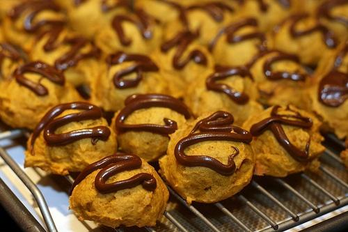 Chocolate Glazed Pumpkin Cookies | I love food | Pinterest