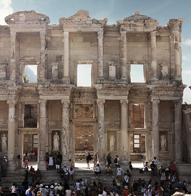 library of celsus, ephesus, turkey  Törökország  Pinterest