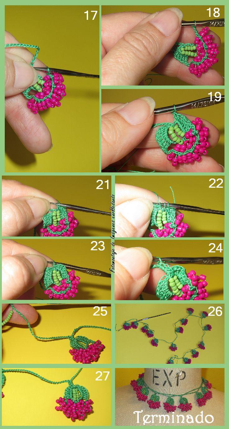Bead crochet oya part 2