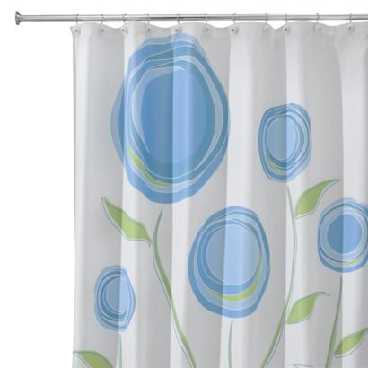 Interdesign Marigold Shower Curtain Blue Green 72x72
