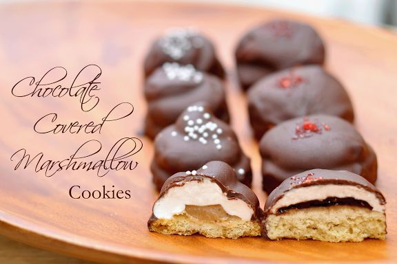 Chocolate covered marshmallow cookies | Sweets - Cookies/Brownies to ...