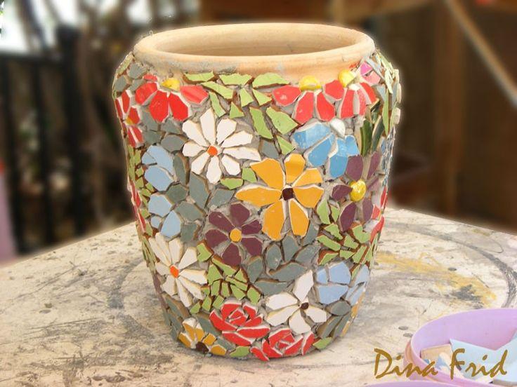 Раскрасить цветочный горшок