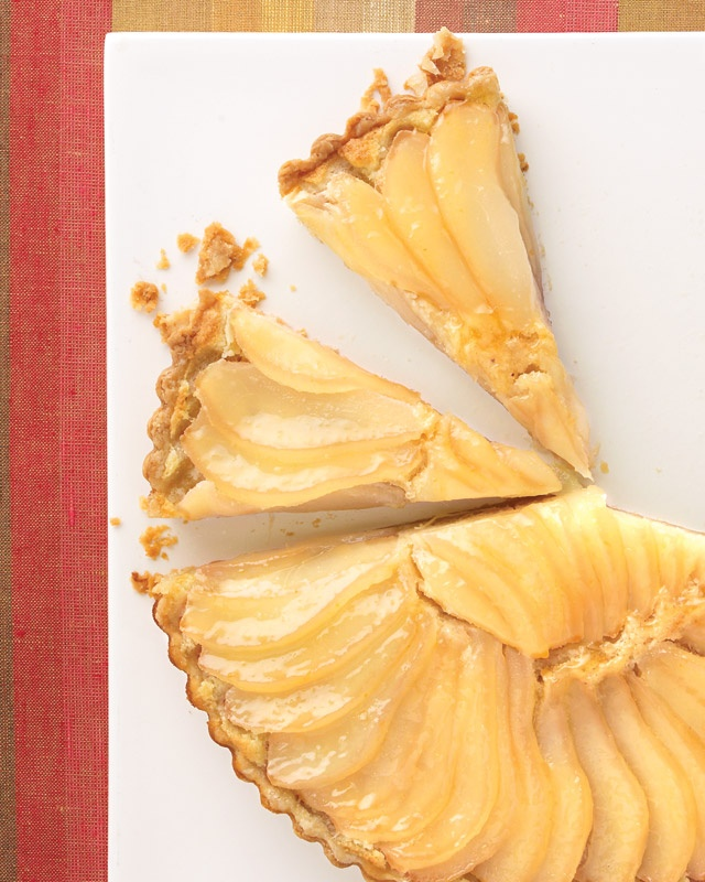 Pear and almond-cream tart. I've made this before and it was delicious ...