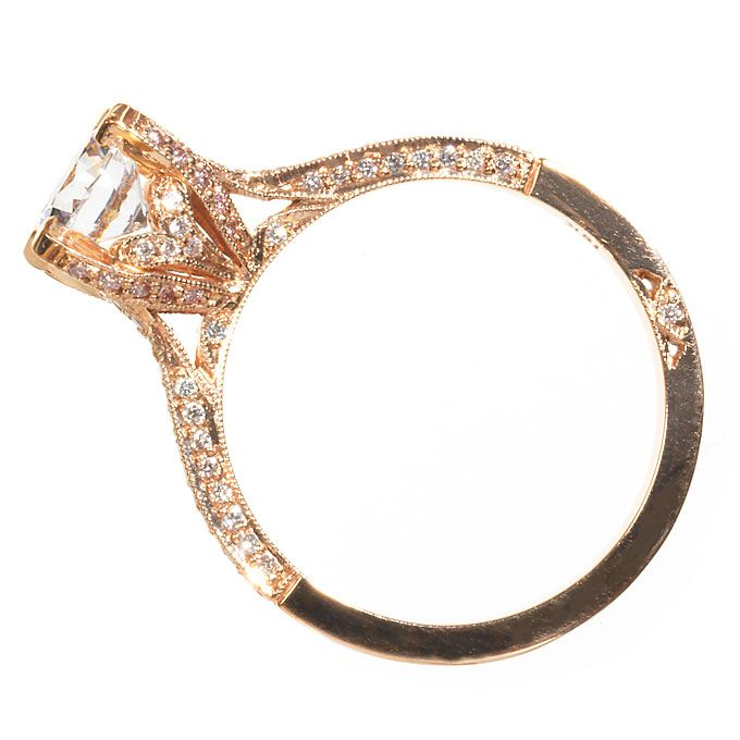 Rose Gold Engagement Ring with Diamonds by Simply Tacori Rose Gold