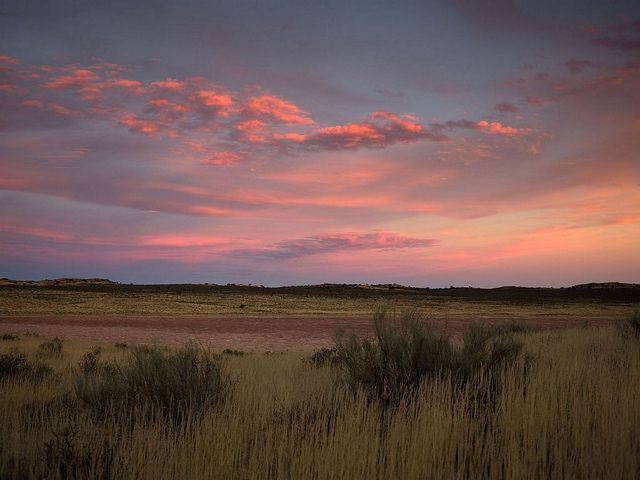 Beautiful sunset over landscape