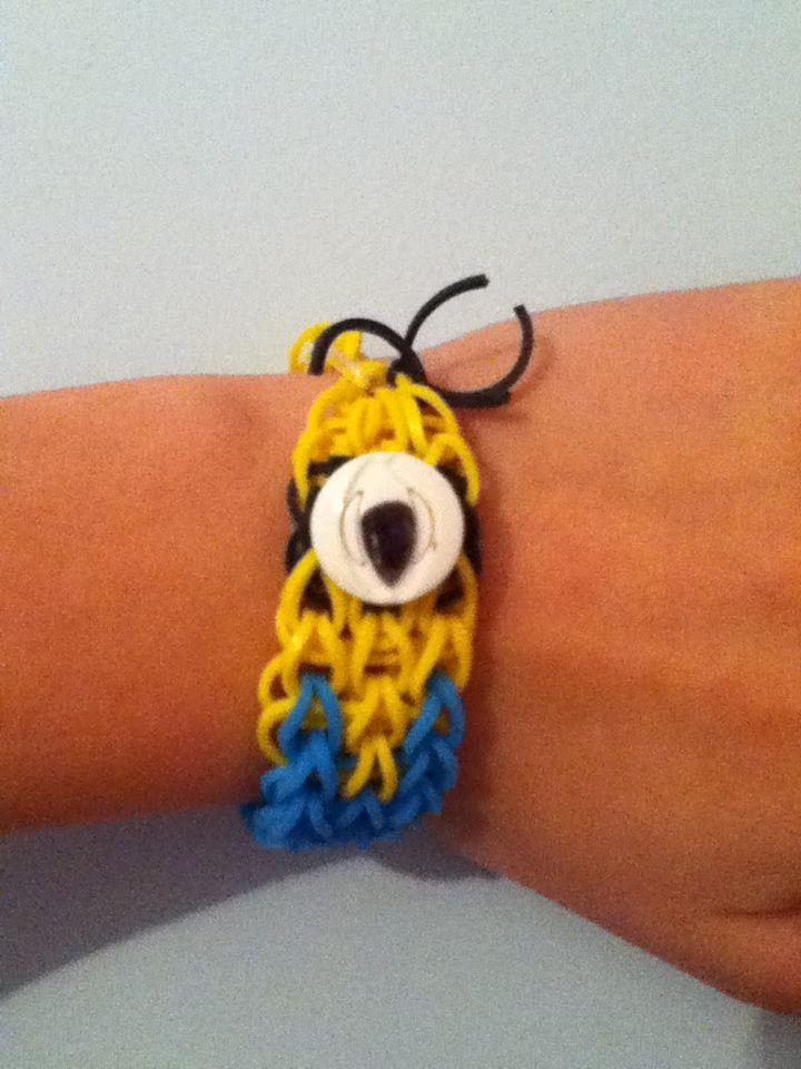 minion rainbow loom bracelet triple single rainbow