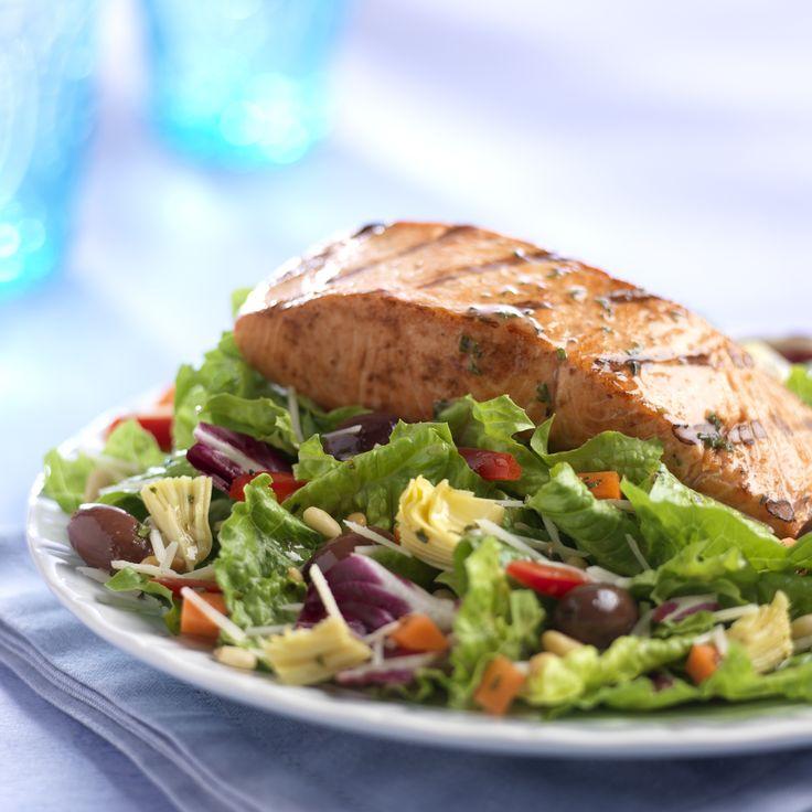 Colorful Grilled Salmon Salad | Salad Celebration | Pinterest