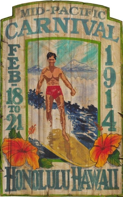 Pacific Carnival - Vintage Beach Sign