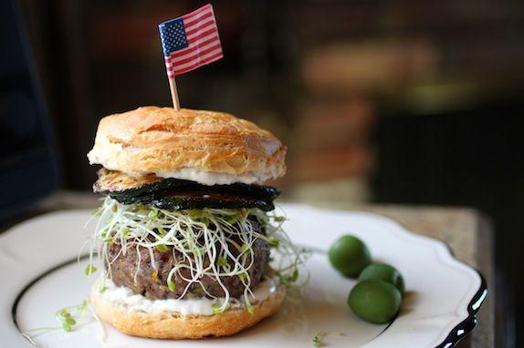 Zucchini Quinoa Beef Burgers ~ Sauteed Zucchini Medallions, Broccoli ...