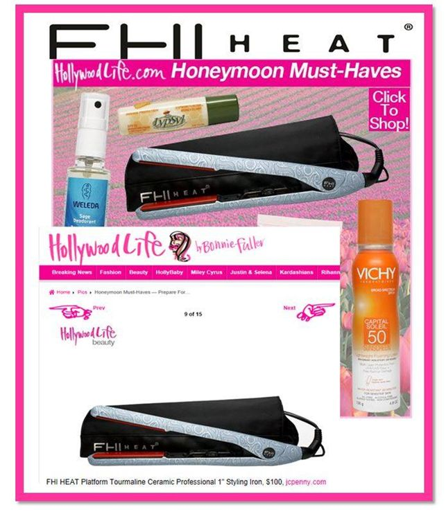 FHI Heat Platform 1quot; Tourmaline Ceramic Professional Hair Styling iron